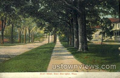 South St. - Great Barrington, Massachusetts MA Postcard