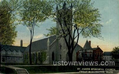 St. James Episcopal Church - Great Barrington, Massachusetts MA Postcard