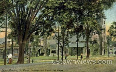 Congregational Church - Great Barrington, Massachusetts MA Postcard
