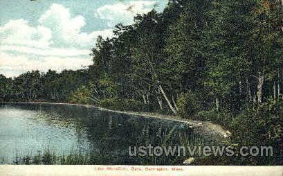 Lake Mansfield - Great Barrington, Massachusetts MA Postcard