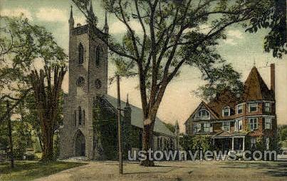 St. James' Church & Rectory - Great Barrington, Massachusetts MA Postcard