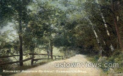 Monument Mountain Road - Great Barrington, Massachusetts MA Postcard