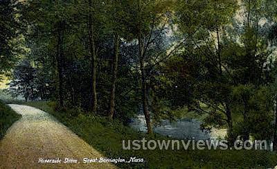 Riverside Drive - Great Barrington, Massachusetts MA Postcard