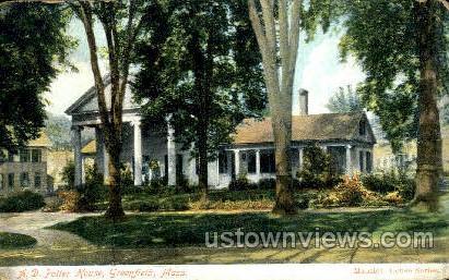 A.D. Potter House - Greenfield, Massachusetts MA Postcard