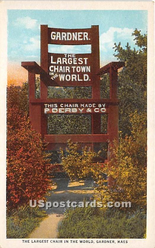 Largest Chair in the World - Gardner, Massachusetts MA Postcard
