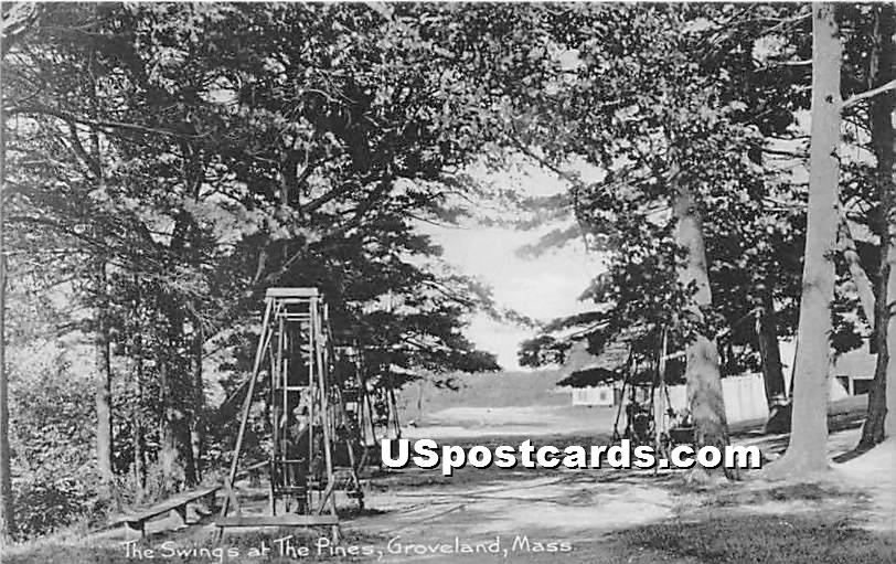 The Swings at the Pines - Groveland, Massachusetts MA Postcard