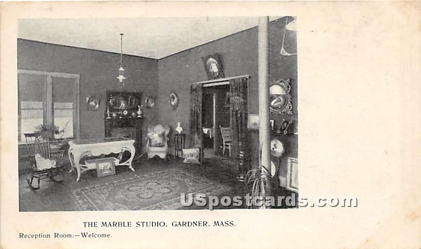 The Marble Studio - Gardner, Massachusetts MA Postcard