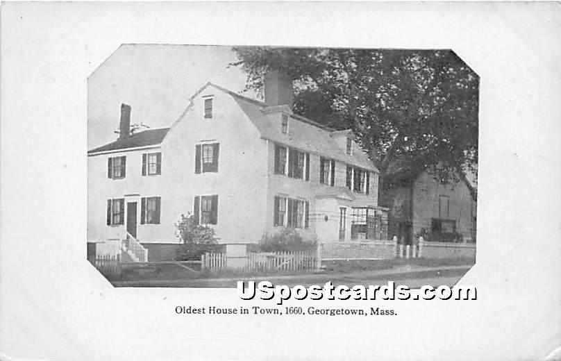 Oldest House in Town 1660 - Georgetown, Massachusetts MA Postcard