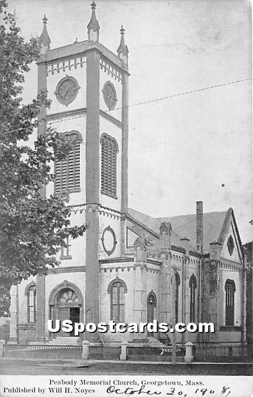 Peabody Memorial Church - Georgetown, Massachusetts MA Postcard