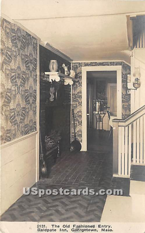 The Old Fashioned Entry of Baldpate Inn - Georgetown, Massachusetts MA Postcard