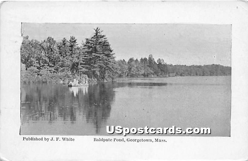 Baldpate Pond - Georgetown, Massachusetts MA Postcard