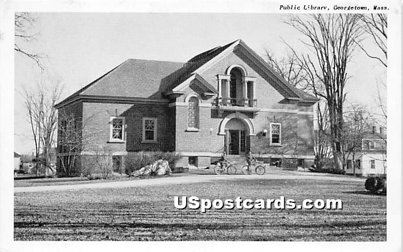 Public Library - Georgetown, Massachusetts MA Postcard