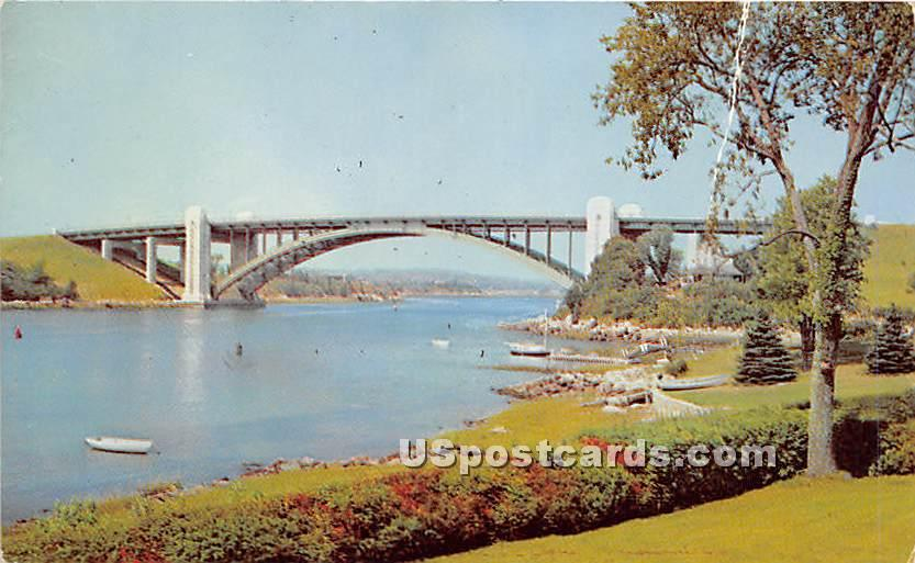 A Piatt Andrews Bridge - Gloucester, Massachusetts MA Postcard