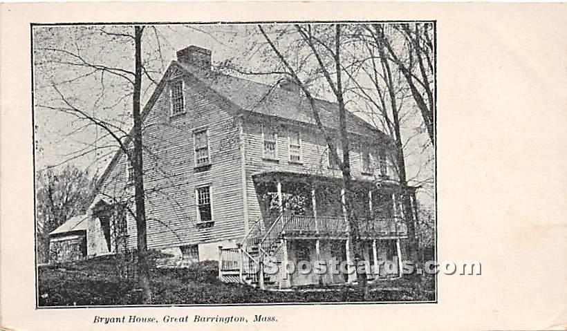 Bryant House - Great Barrington, Massachusetts MA Postcard