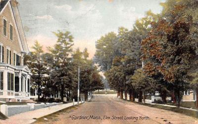 Elm Street  Gardner, Massachusetts Postcard