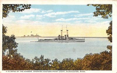 A Glimpse of the Harbor Gloucester, Massachusetts Postcard
