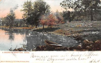 A Scene in Grafton Massachusetts Postcard