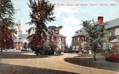Brooks House & Groton School Massachusetts Postcard