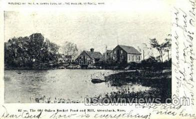 The Old Oaken Bucket Pond - Greenbush, Massachusetts MA Postcard