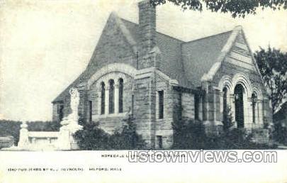 Hopedale Library - Massachusetts MA Postcard
