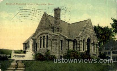 Bancroft Memorial Library - Hopedale, Massachusetts MA Postcard