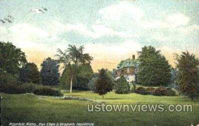 Hon. Eben S. Draper's Residence - Hopedale, Massachusetts MA Postcard