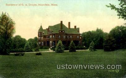 Residence of G.A. Draper - Hopedale, Massachusetts MA Postcard