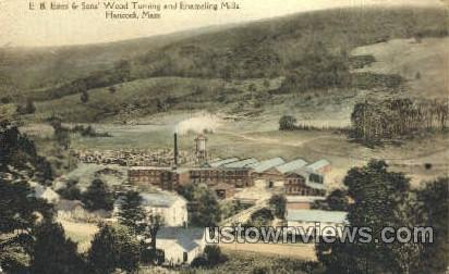 E.B. Estes & Sons Wood Turning - Hancock, Massachusetts MA Postcard
