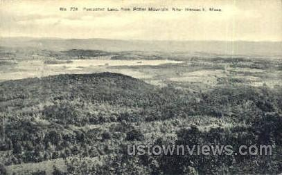 Pontoosuc Lake - Hancock, Massachusetts MA Postcard