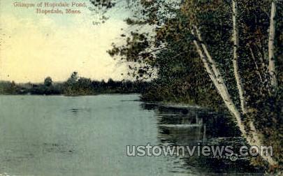 Hopedale Pond - Massachusetts MA Postcard