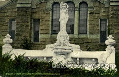 Statue of Hope Drinking Fountain - Hopedale, Massachusetts MA Postcard