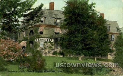 Residence of Gov. Eben S. Draper - Hopedale, Massachusetts MA Postcard
