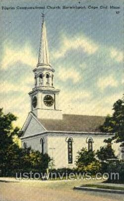 Pilgrim Congregational Church - Harwichport, Massachusetts MA Postcard