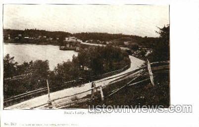 Rock's Bridge - Haverhill, Massachusetts MA Postcard