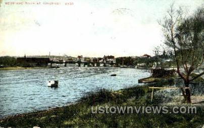 Merrimac River - Haverhill, Massachusetts MA Postcard