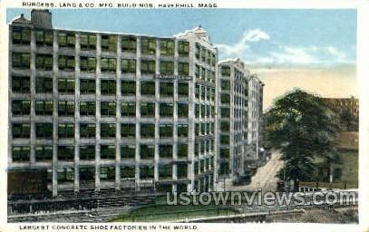 Burgess, Lang & Co. Manufacturing - Haverhill, Massachusetts MA Postcard