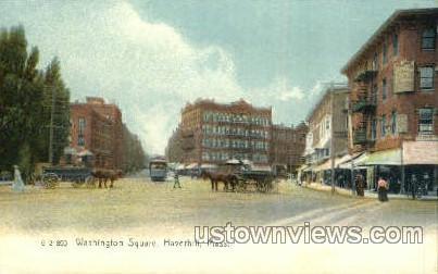 Washington St. - Haverhill, Massachusetts MA Postcard
