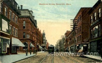 Marrimac St. - Haverhill, Massachusetts MA Postcard