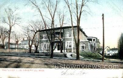 Pawtucket Club - Haverhill, Massachusetts MA Postcard