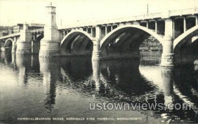 Haverhill-Bradford Bridge - Massachusetts MA Postcard