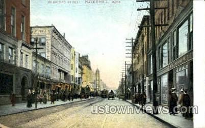 Merrimac St. - Haverhill, Massachusetts MA Postcard