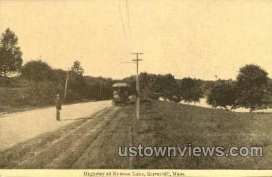 Highway, Kenoza Lake - Haverhill, Massachusetts MA Postcard