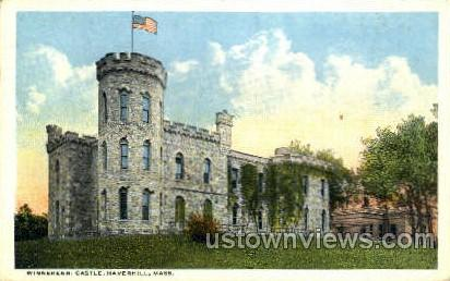 Winnekenni Castle - Haverhill, Massachusetts MA Postcard