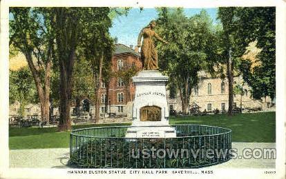 Hannah Duston Statue - Haverhill, Massachusetts MA Postcard