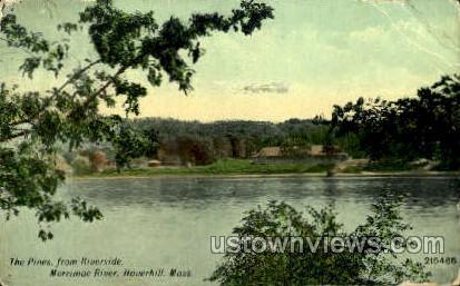 The Pines, Merrimack River - Haverhill, Massachusetts MA Postcard