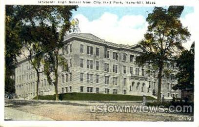 Haverhill High School - Massachusetts MA Postcard