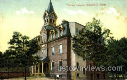 Currier School - Haverhill, Massachusetts MA Postcard