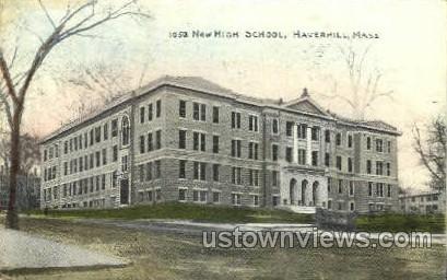 New High School - Haverhill, Massachusetts MA Postcard