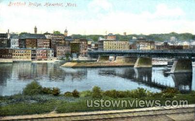 Bradford Bridge - Haverhill, Massachusetts MA Postcard