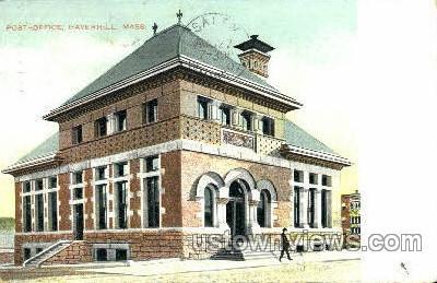 Post-Office - Haverhill, Massachusetts MA Postcard